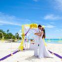 жених и невеста, съемка в Доминикане,  остров Саона, океан, поцелуй, любовь, счастье, молодость, свадьба