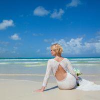 невеста, съемка в Доминикане,  пляж Макао, океан, молодость, свадьба, букет