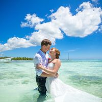 свадьба на острове Саона, Доминикана, любовь, поцелуй , море, небо