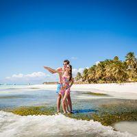 свадьба на острове Саона, Доминикана, любовь , взгляд, море , небо, пляж, пальмы, прибой