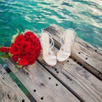 свадьба на острове Саона, Доминикана, букет, закат