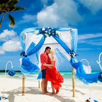 Доминикана, остров Саона, свадьба в голубом цвете