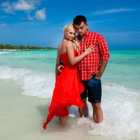 Доминикана, остров Саона, свадьба , море , волна