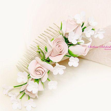 Гребень в прическу невесты
