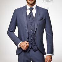 Светло-синий свадебный костюм