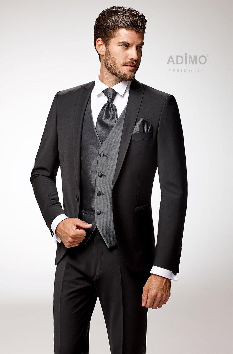 Мужской костюм-тройка Lexus Adimo, чёрный