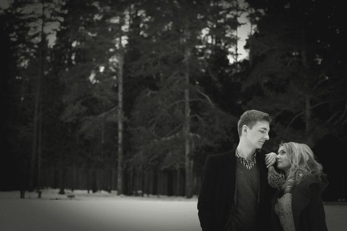 свадьба зима лес