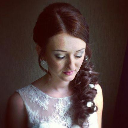 Прическа свободная коса - вечерняя, свадебная