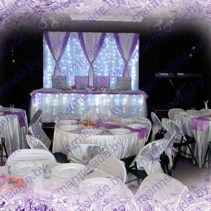 Украшение и оформление свадебного зала