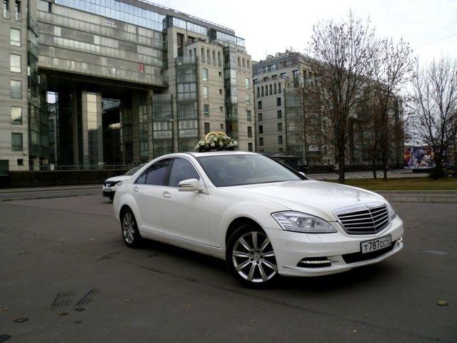Аренда белоснежного Mercedes S class