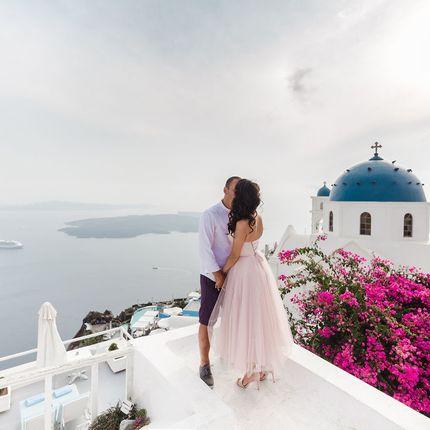 Организация венчания на Санторини