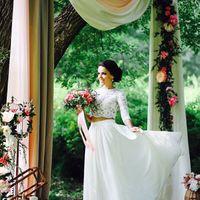 Свадебный комплект: кружевной топ+юбка из шифона, ориентировочная стоимость подобного 15 тыс (работа+материалы)