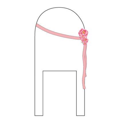 Оформление стула бантом из ленты