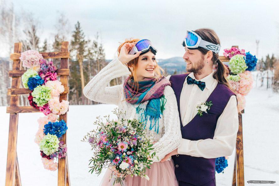 Фото 16732436 в коллекции Snowboard Wedding Элина+Андрей - Фотограф Марина Клипачева