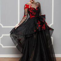 Артикул: Ирен фатин черное с красными бабочками. Материал: Фатин. Стоимость: 53.000 р.