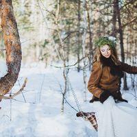 зимняя свадьба, зима, лес, качели