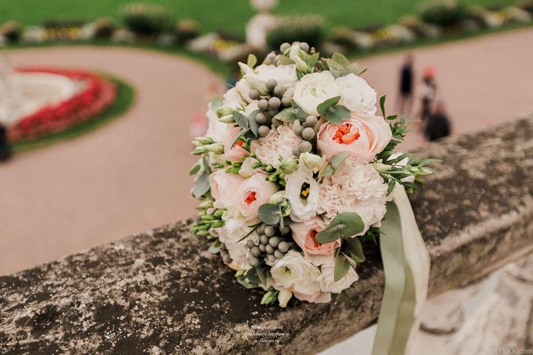 Букет невесты с пионовидными розами Флорист Пашкова Ольга - фото 16322842 Пашкова Ольга - флорист-дизайнер