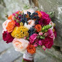 Букет невесты с пионовидными розами.