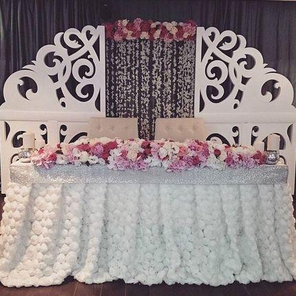 Ажурная стенка на свадьбу