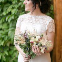 20.08.16г. - лохматный эко-букет для невесты Карины из полевых цветов и колосьев пшеницы.