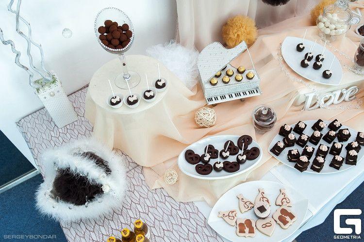 Фото 2507937 в коллекции Candy Bar- маленькие сладости! - Надежда Алябьева - свадебные торты