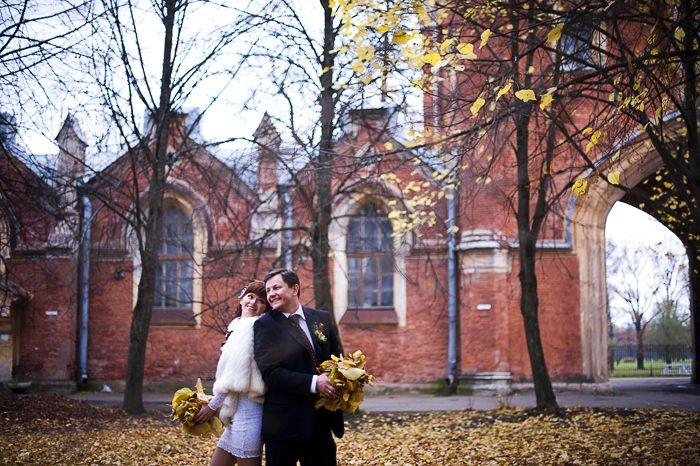 осенняя свадьба, свадьба осенью, короткие свадебные платья - фото 3161267 Фотограф Людмила Аверьянова