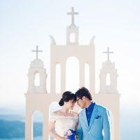 Ming and Quishi, wedding in Santorini