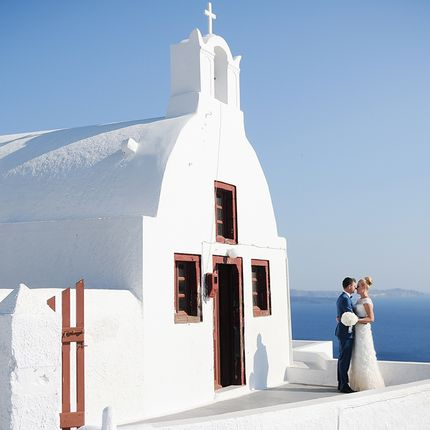 Свадебная фотосъёмка в Греции