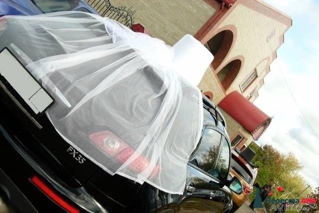 Фата на машину невесты