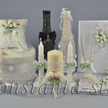 Коллекция свадебных аксессуаров «Любовь и голуби»