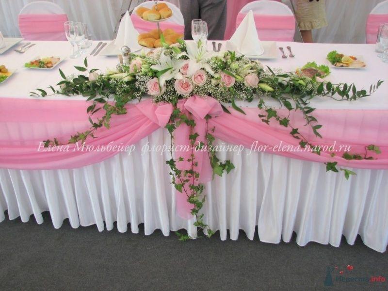 Композиця на стол молодоженов - фото 34438 Цветочная мастерская Флорины