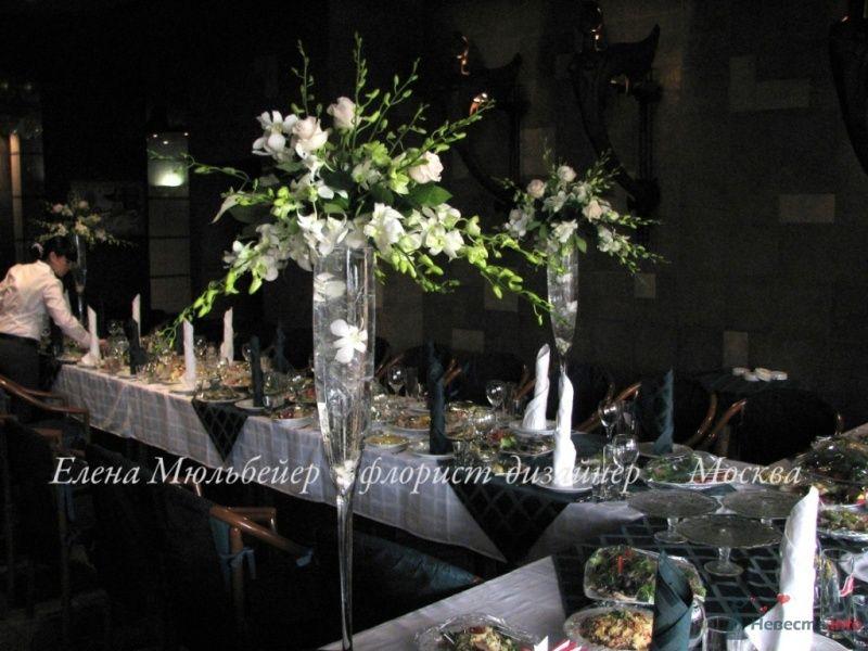 Композиция в высокой вазе  - фото 48073 Цветочная мастерская Флорины