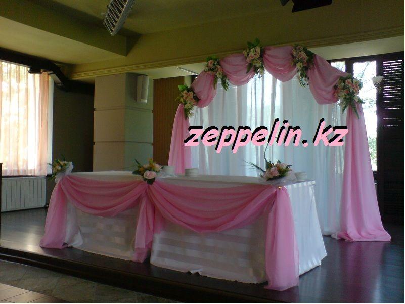 Оформление стола на свадьбу для молодоженов в Алматы - фото 513784 Корпорация праздников - студия оформления
