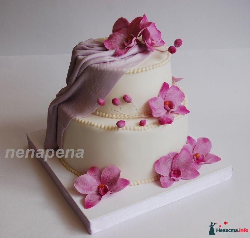 Торт с орхидеей фото
