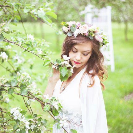 Венок с живых цветов