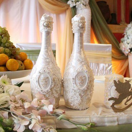 Оформление шампанского, бокалов