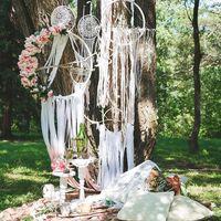 утро невесты в стиле бохо