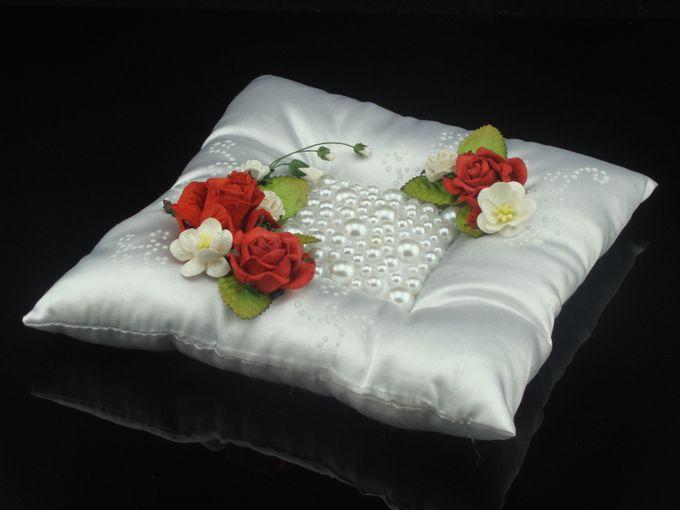Свадебная подушечка для колец с углублением своими руками 36