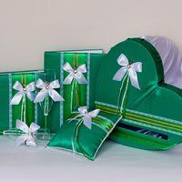 Украшение зала на свадьбу в зелёно-бирюзовых тонах