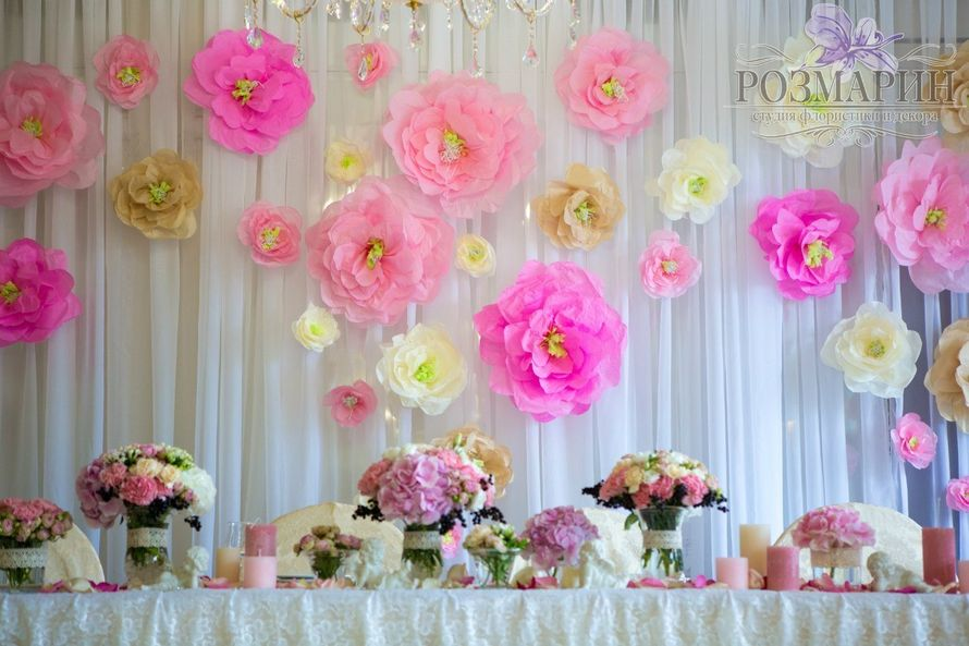 картинки украшения зала бумажными цветами этой возможности дает