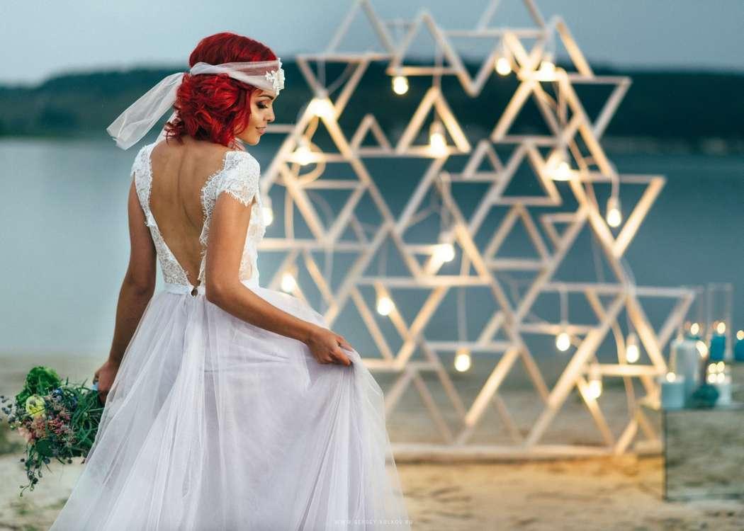 """Вечерняя выездная церемония на пляже - фото 16526994 Мастерская оформления свадеб """"Magic garden"""""""