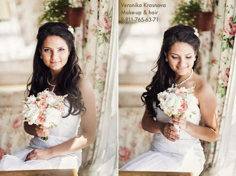 Фото 1173287 в коллекции Мои невесты (прически и макияж) - Стилист Вероника Краснова