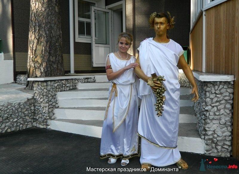 Тамада и живая статуя на встрече молодых - фото 311738 Тамада Марьяна Плетнева