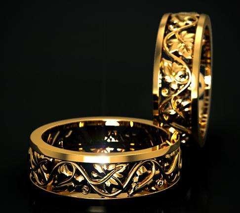"""Обручальное кольцо - фото 3739455 Ювелирная дизайн студия """"Золотая Роскошь"""""""