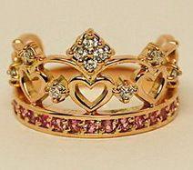 """Обручальное кольцо корона - фото 3739457 Ювелирная дизайн студия """"Золотая Роскошь"""""""