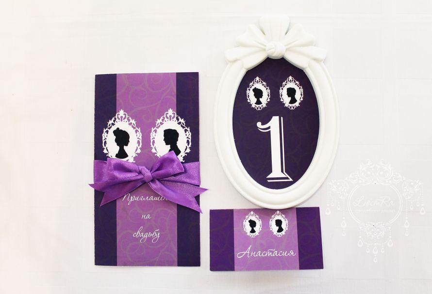 """Пригласительный. Номерок на стол. Табличка на стол для каждого гостя. - фото 3777429 Свадебный декор """"LюстRa"""""""