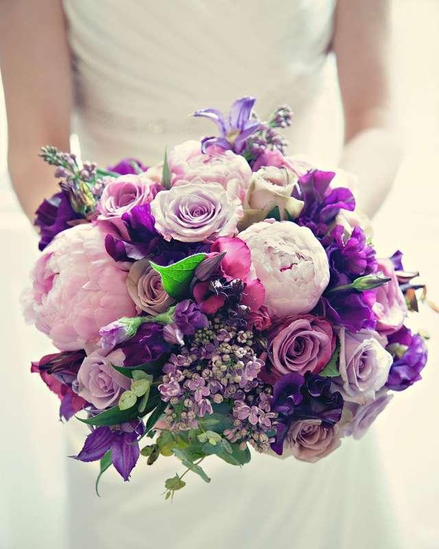 красивое сочетание цветов в букете фото синяя