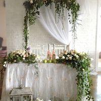 Оформление уютной маленькой свадьбы в ресторане Чайка