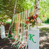 любовь-морковь, Харитоновы, следуй за белым кроликом, флорист-декоратор Анастасия Пицик, выездная регистрация, оранжевый, ленты
