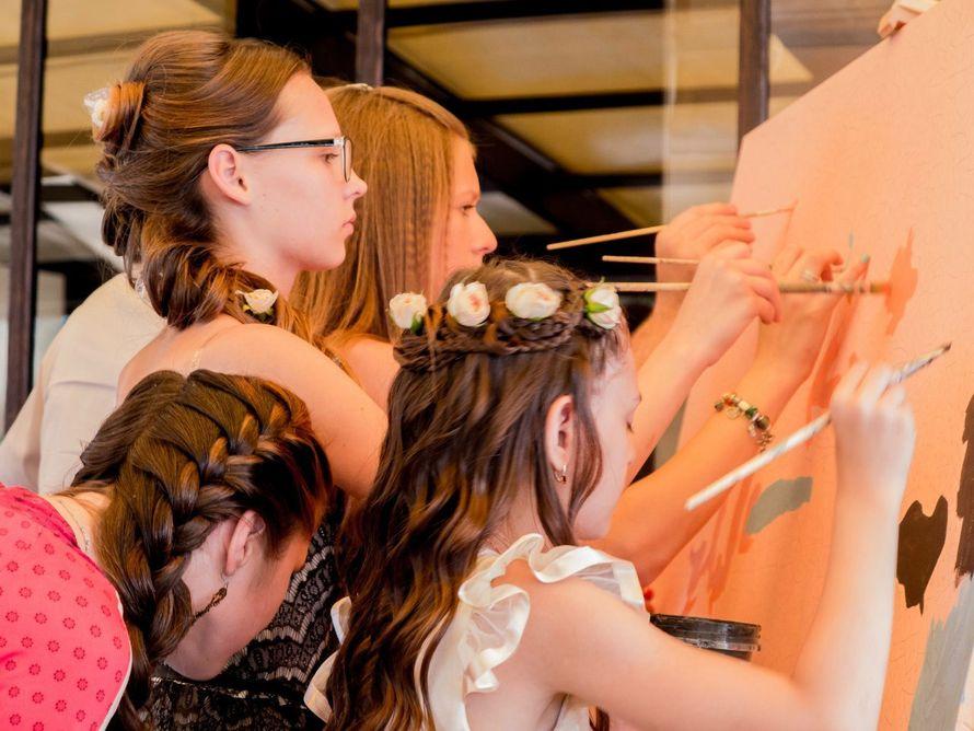 Фото 8651222 в коллекции Живописный интерактив - картина в исполнении гостей события! - Artlumen show - портрет-шоу
